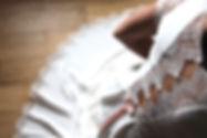 Marine M-Robe de mariée-bohème-soie-romantique-dentelle