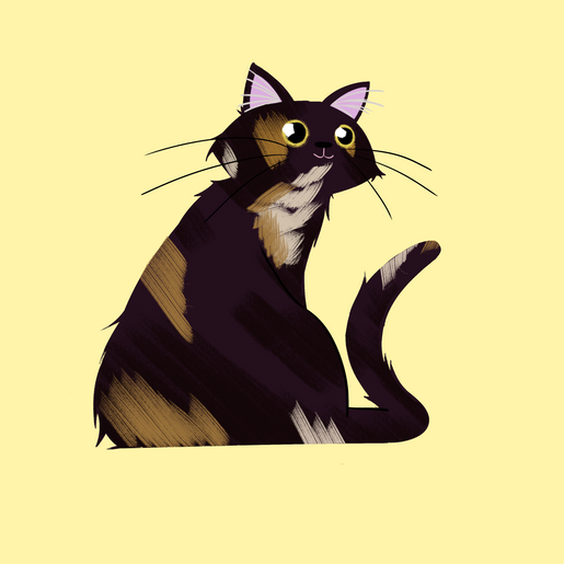 Drawing of our cat