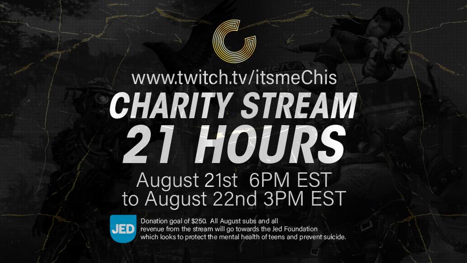 Charity stream ad