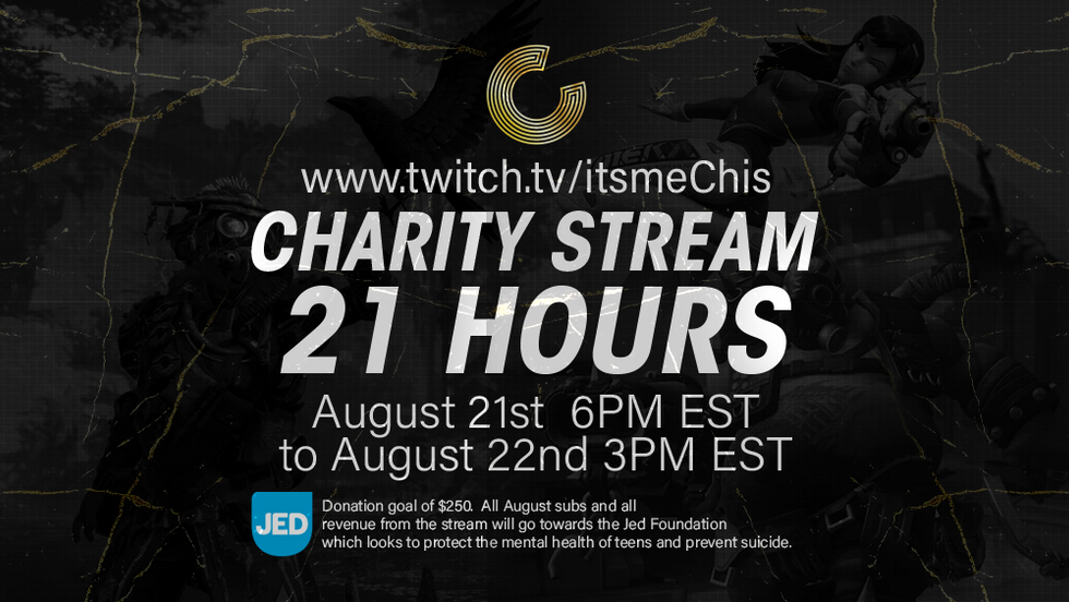 Charity stream ad