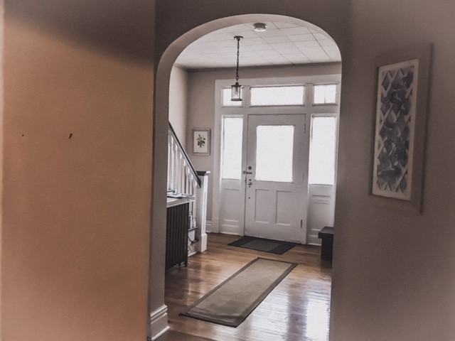 View of the front entry way