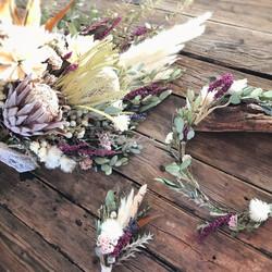 Bouquet & Boutonniere & Flower Crown