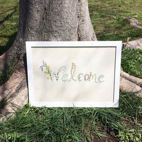 刺繍 welcome board (Welcome)