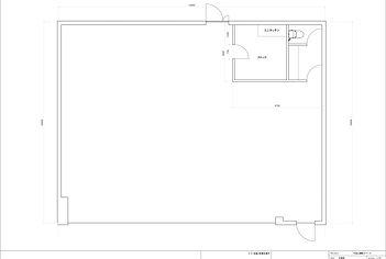 代官山に位置する総148.4㎡の広々としたレンタルスタジオの図面です。