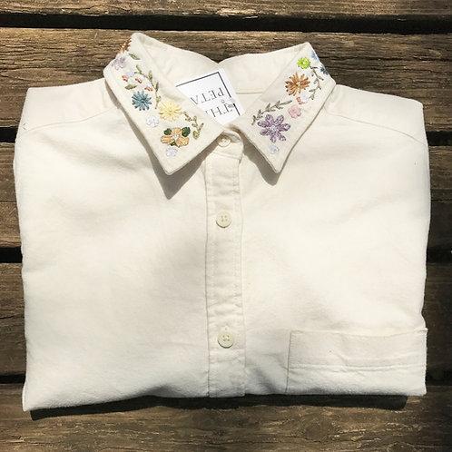 FLOWER (襟) Yシャツ (Lady's)