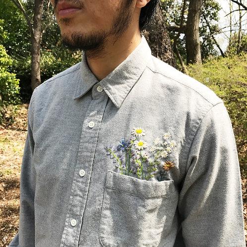 FLOWER (胸) Yシャツ