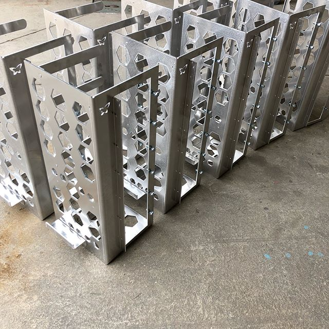 Built some aluminum computer frames for a client today! Gotta love the clean shiny stuff! These have