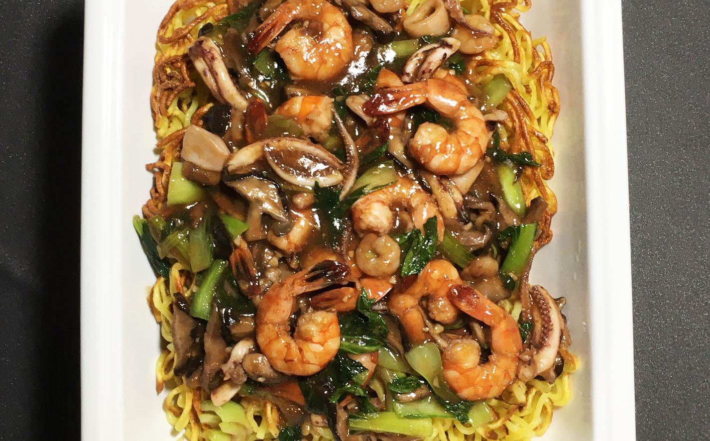 Hong Kong style crispy chow mein