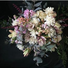 Bouquet mix de Cravínea, Curcuma, Angélicas e Eucalipto