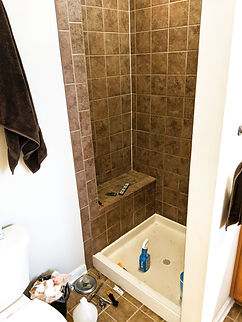 grout claning of a shower