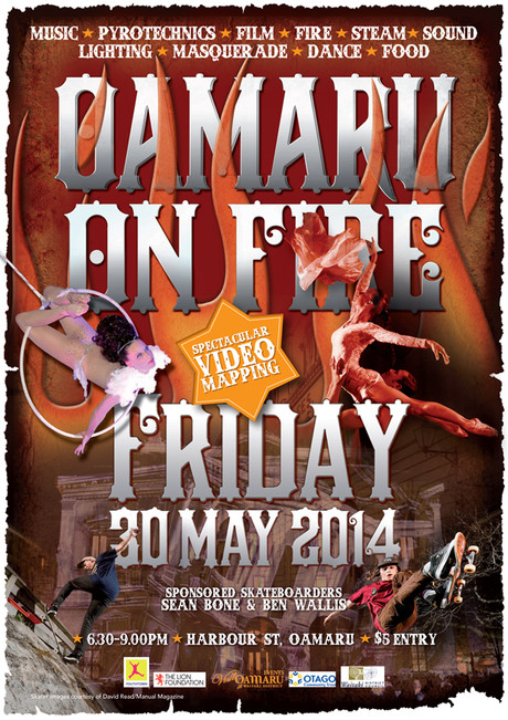 OAMARU ON FIRE 2014