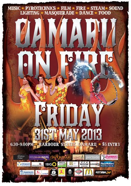 OAMARU ON FIRE 2013
