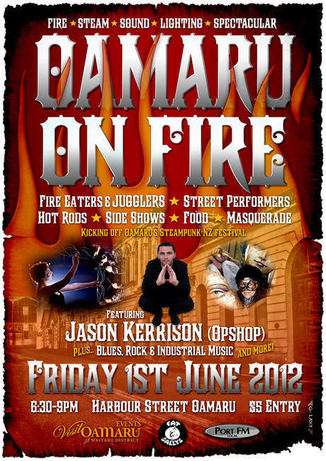 OAMARU ON FIRE 2012