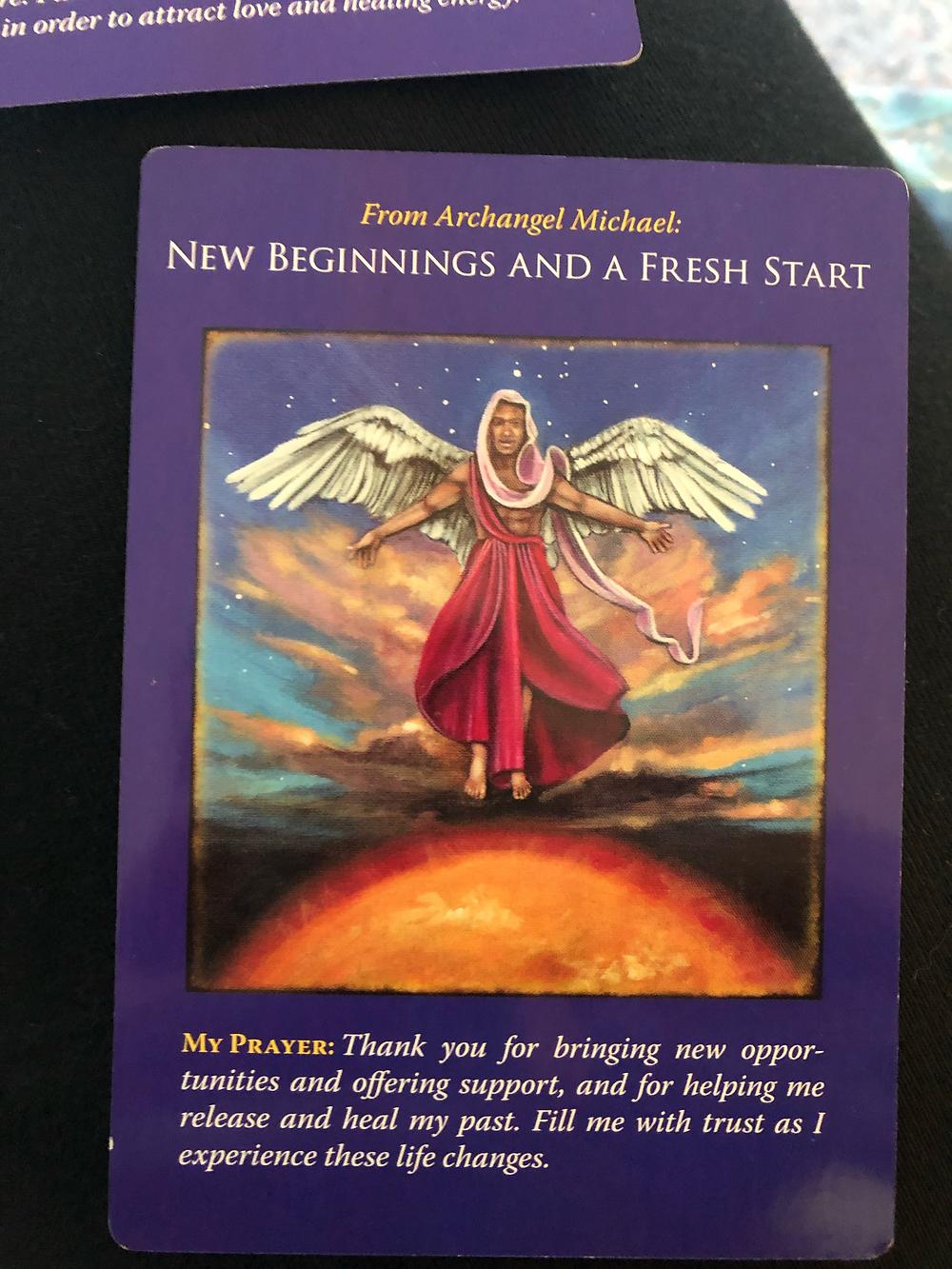 archangel cards, reiki