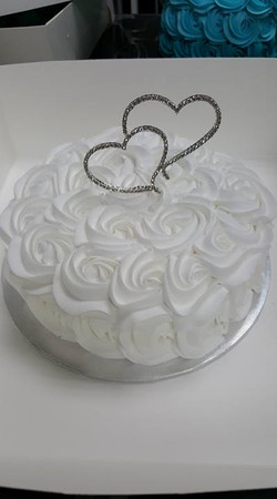 Rosette Topper Cake #56