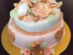 My First Fondant Cake by Megan