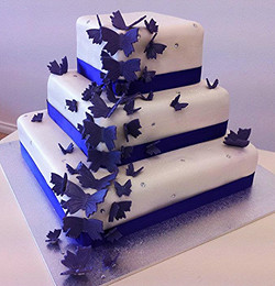 Wedding Cake Square Butterflies #53