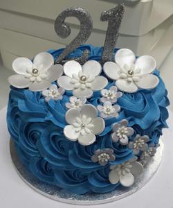 Rosette Blue #14