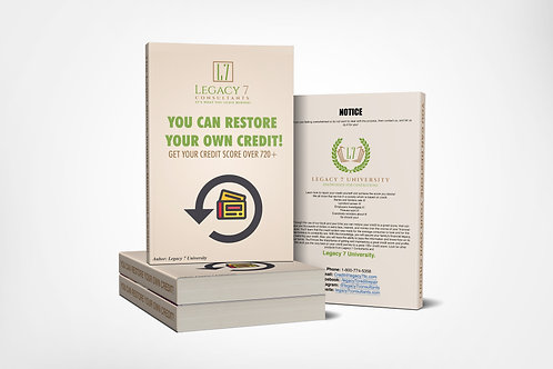 You Can Restore You Own Credit + 15 Minute Consultatio