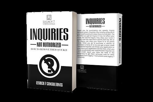 Inquiries: Not Authorized