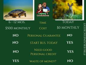 Business credit the rabbit vs. the turtle