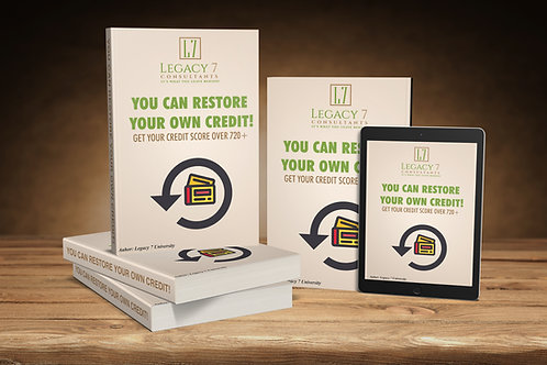 You Can Restore Your Own Credit + 45 min. indepth Credit Analysis & Consultation