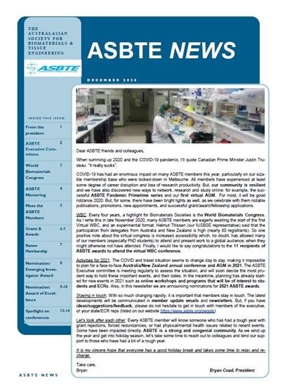 Thumbnail of ASBTE newsletter