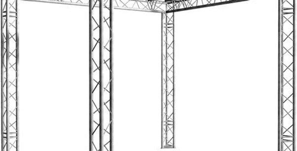 GRIL EN STRUCTURE 290 TRIANGULAIRE DE 5M X 5M X 3M