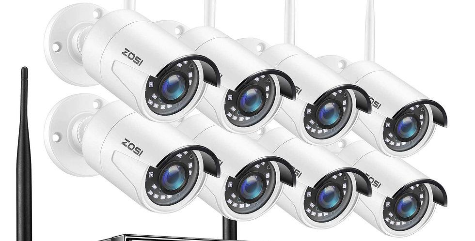 Système de caméra de sécurité sans fil 1080P