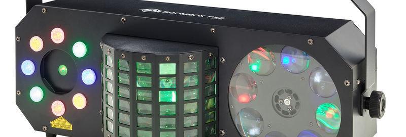 Boombox FX 2 jeux de lumière 4 en 1