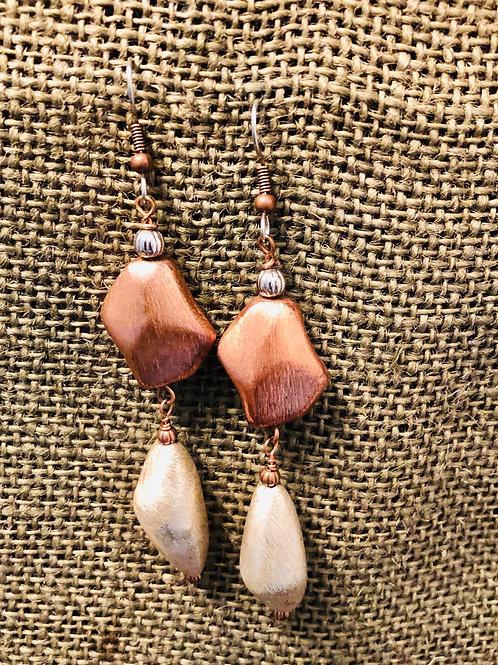 Copper Drops Earrings (Medium)