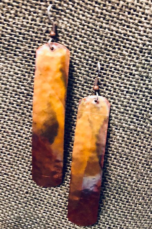 Copper Extra Long Earrings