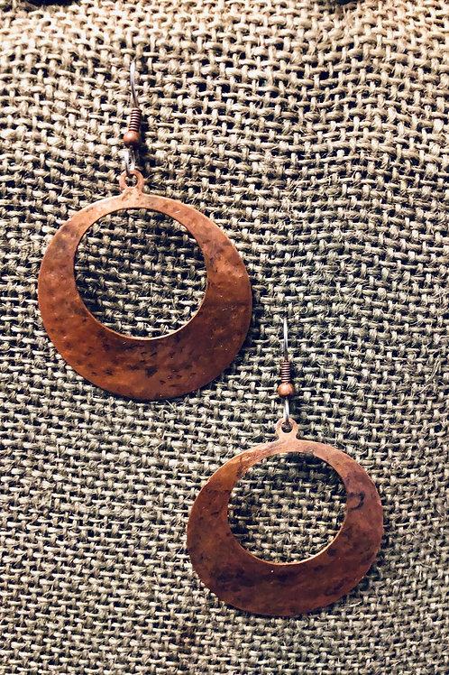 Copper Disc Hoops (Medium)