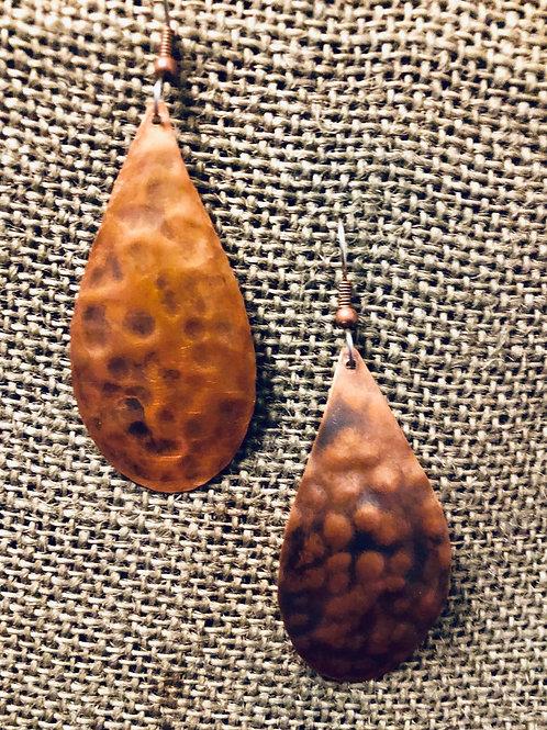 Copper Tear Drops Earrings (Medium)