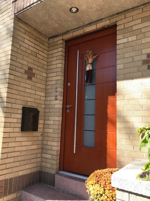 wood door ridgewood installed