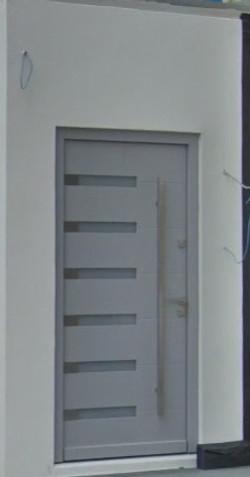 light grey wooden door