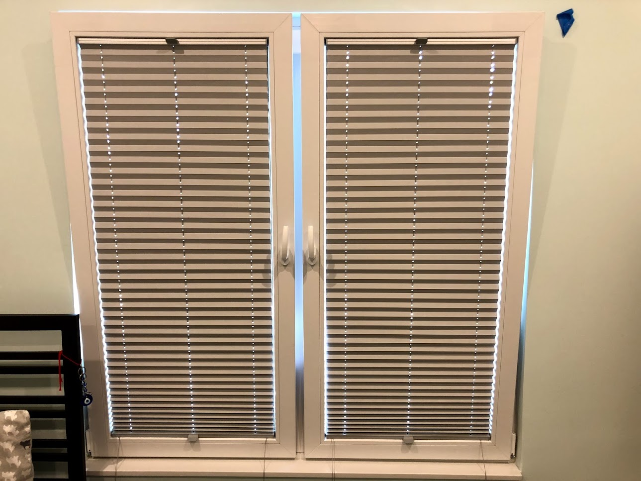 white windows with blinds special order