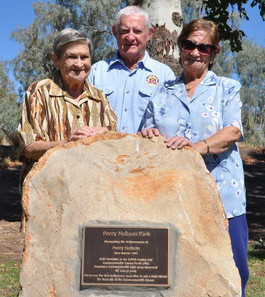 Permanent memorial for Percy Hobson