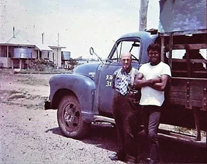 """""""Brother"""" Frank Faulkner and his fruit truck"""
