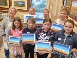 Budding artists create mini masterpieces