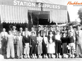 The staff of 1955 at Bourke's former department store — Permewan Wright