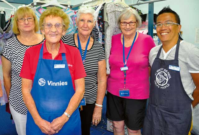 Vinnies needs your help! If you have a few spare hours a week, the staff at Vinnies would like to hear from you. The hardworking team of volunteers are manning the counter, preparing the clothing and good ready for sale, sorting donations, working on the accounts and counselling clients – and they are running out of spare hands.