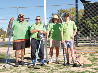 Bourke tennis and netball courts ready to go