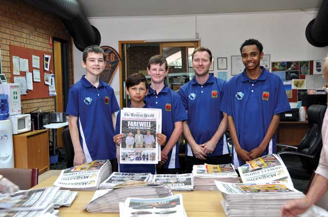 Clontarf boys helping bring The Western Herald to you!