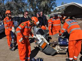 Crash rescue course at Bourke