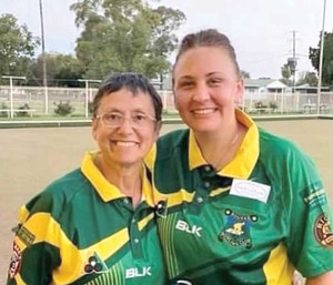 Lawn Bowls — Joan Dickson and Lacey Orcher women's pairs champions