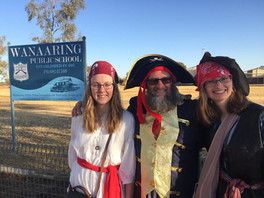 Pirates Visit Bourke To Bring Message of Hope