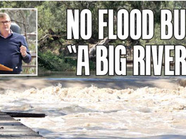 "No flood but ""a big river"""