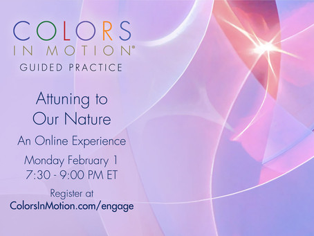 """Join us: """"Attuning to Our Nature"""" Online Practice Group - Monday February 1, 2021"""
