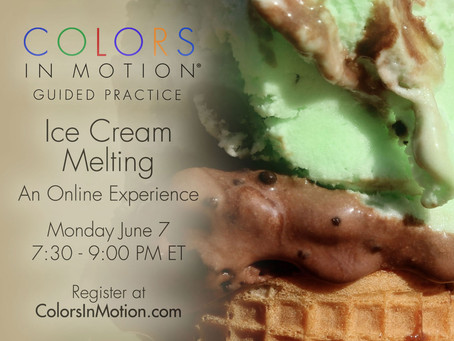 """Join us: """"Ice Cream Melting"""" Online Practice Group - Monday June 7, 2021"""